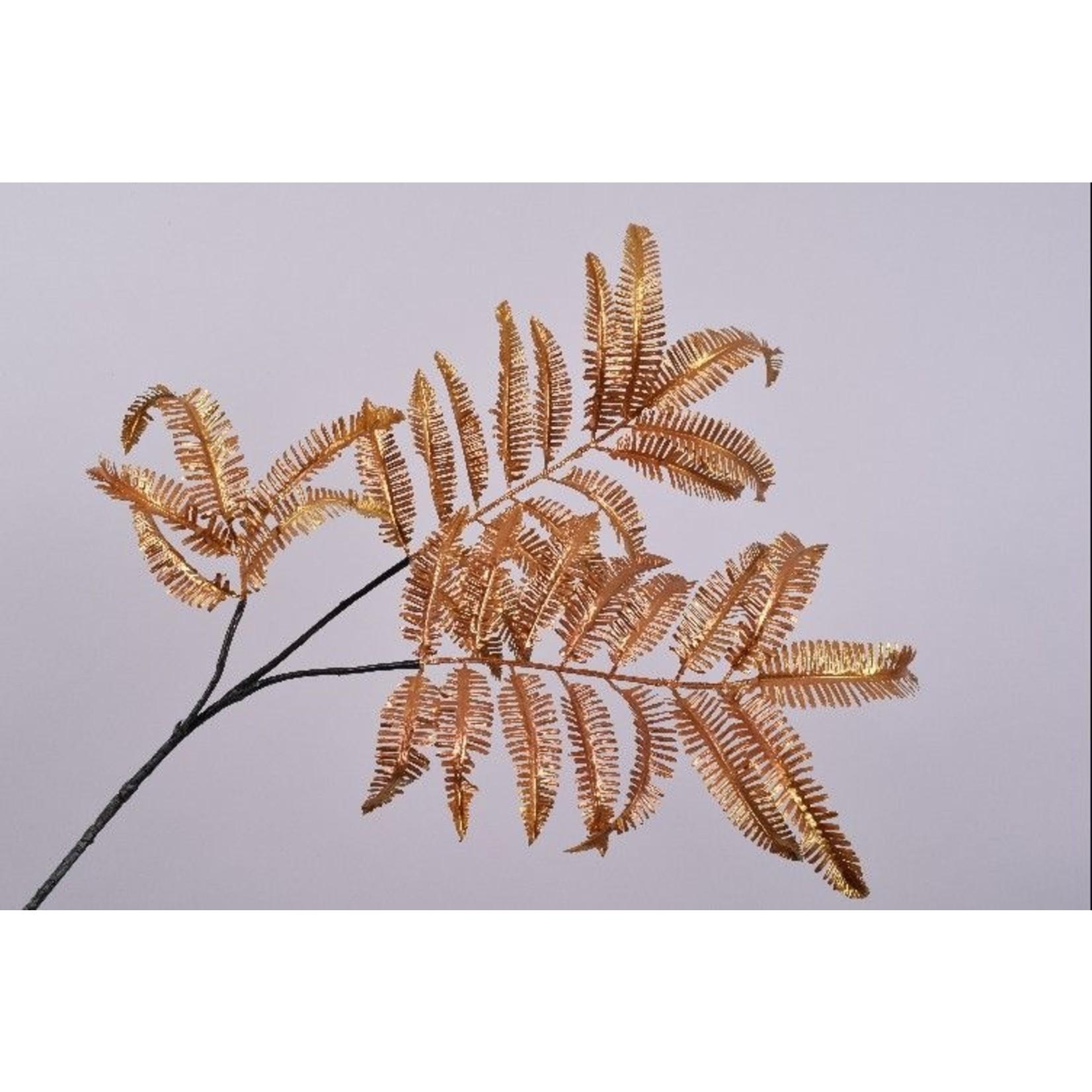 Silk-ka Leaf Branch Fern Gold / Ora   111 cm