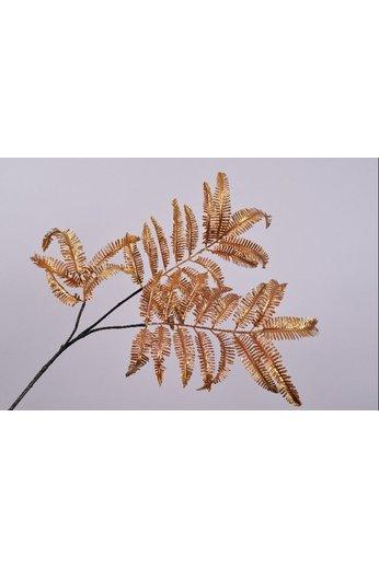 Silk-ka Feuille Branche Fougère Or / Ora   111 cm