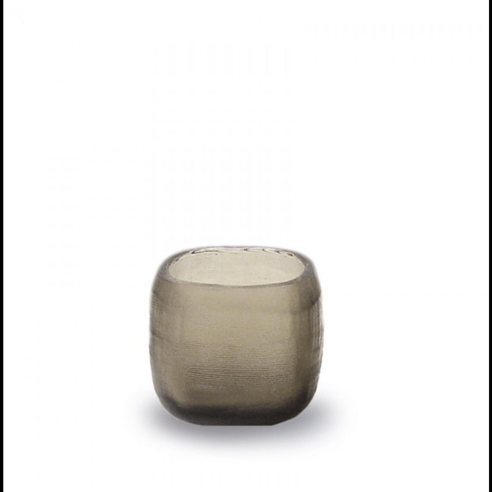 Guaxs Tealight holder Yava   Smokegrey