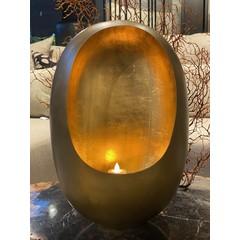 Oeuf Lanterne Laiton Antique