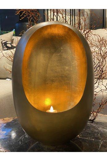 Egg Windlicht Brass Antique