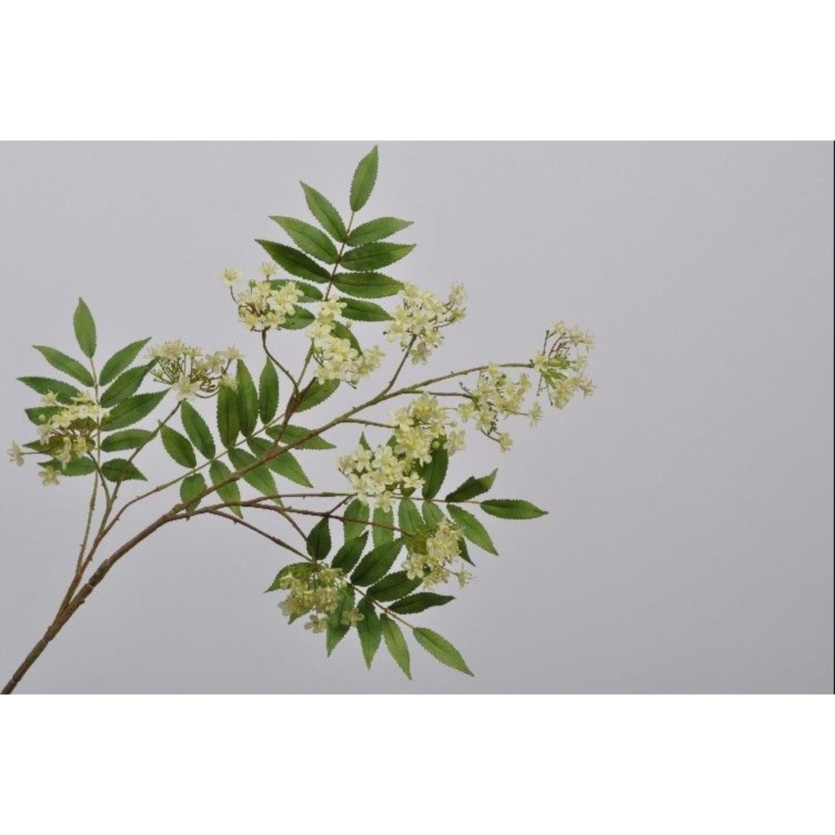 Silk-ka Branche de fleur verte   110 cm