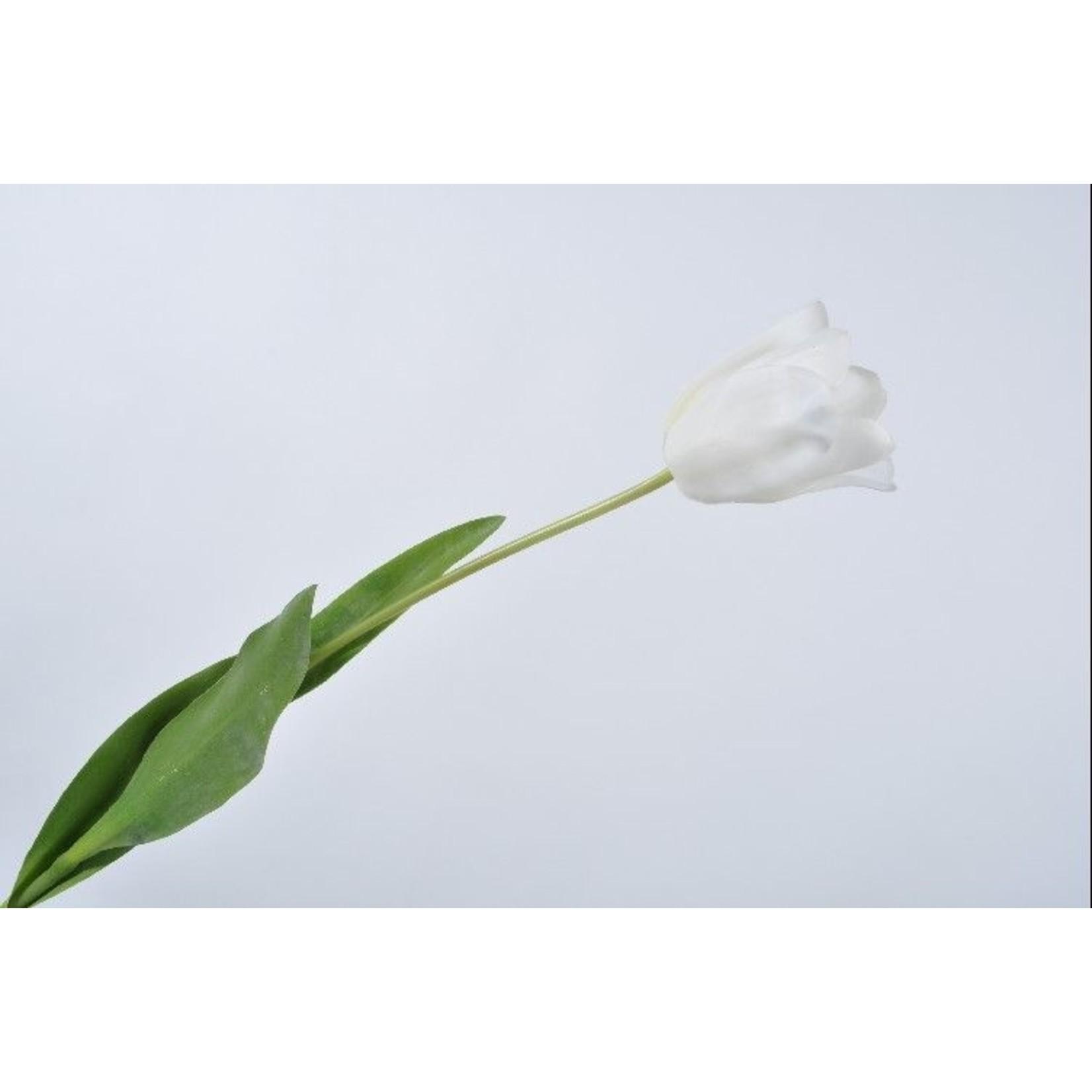 Silk-ka Tige de tulipe blanche | 68 cm