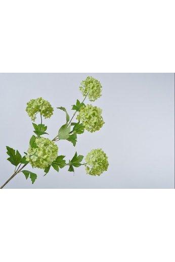 Silk-ka Branche de boule de neige verte | 106 cm