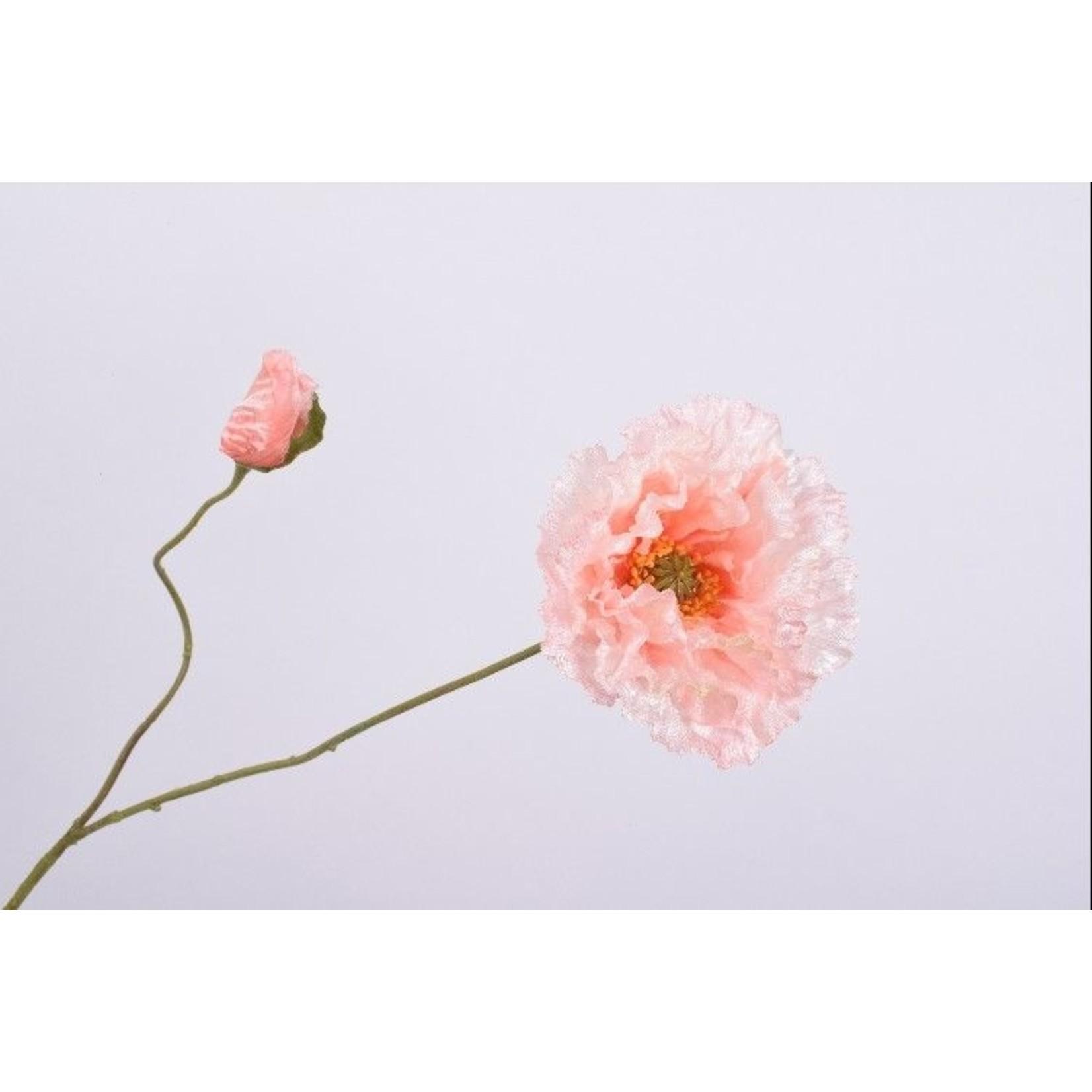 Silk-ka Poppy Branch Saumon   73 cm