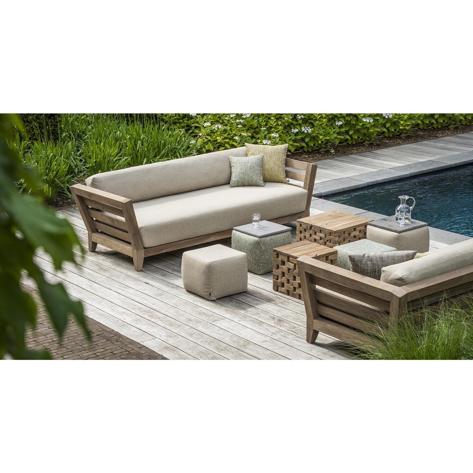 Gommaire Sofa Mia | Reclaimed Teak Natural Grey + Cushion