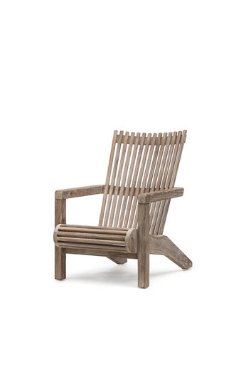 Gommaire Easy Chair Orso | Reclaimed Teak Natural Gray