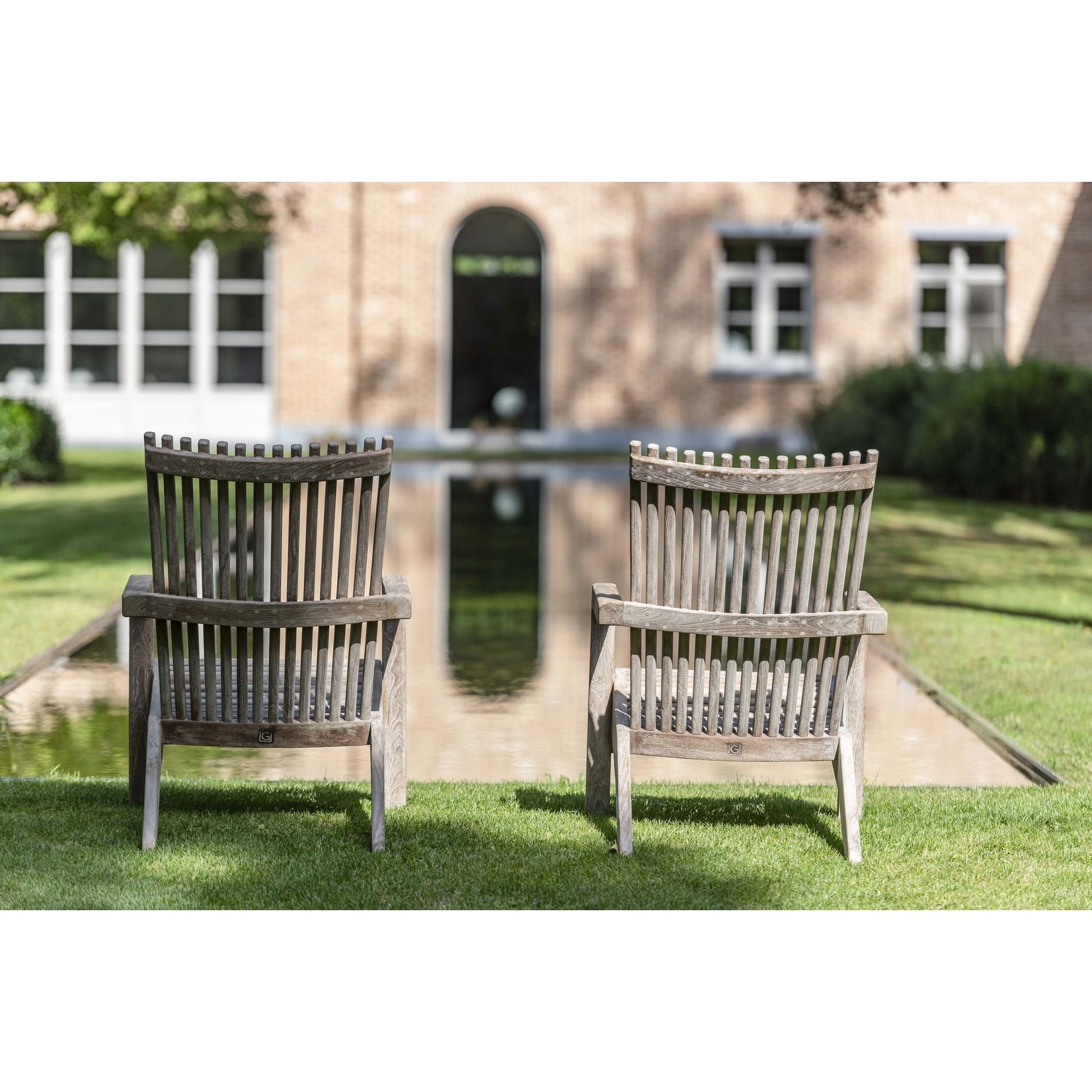 Gommaire Easy Chair Orso | Reclaimed Teak Natural Grey