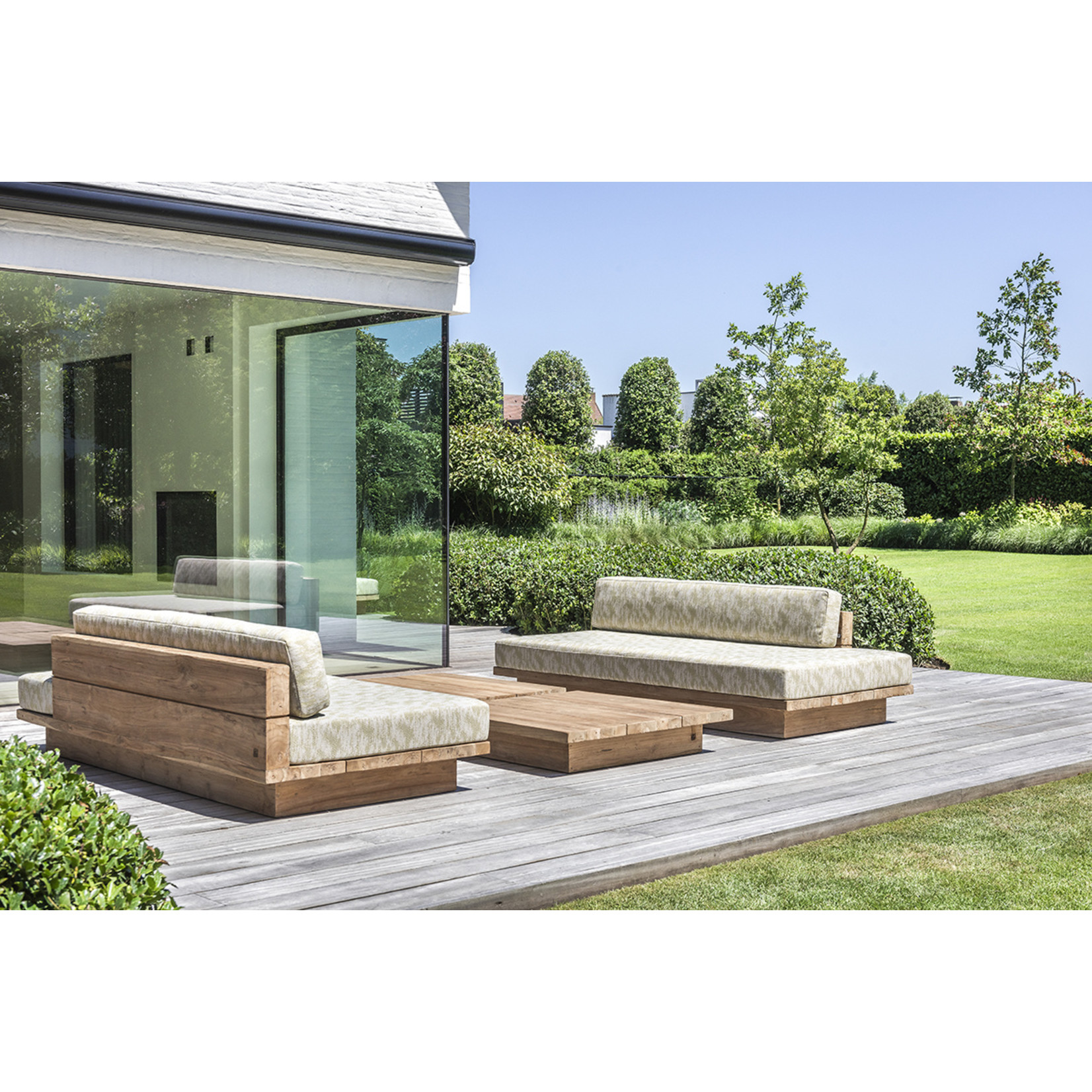 Gommaire Lounge Magnus | Reclaimed Teak Natural Gray + Cushion