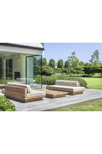 Gommaire Lounge Magnus   Reclaimed Teak Natural Gray + Cushion