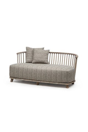 Gommaire Lounge Carol 2-Seater | Reclaimed Teak Natural Gray + Cushion