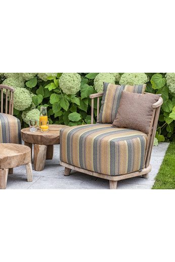 Gommaire Lounge Carol 1-Seater | Reclaimed Teak Natural Gray + Cushion