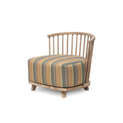 Gommaire Lounge Carol 1-Seater | Reclaimed Teak Natural Grey + Cushion