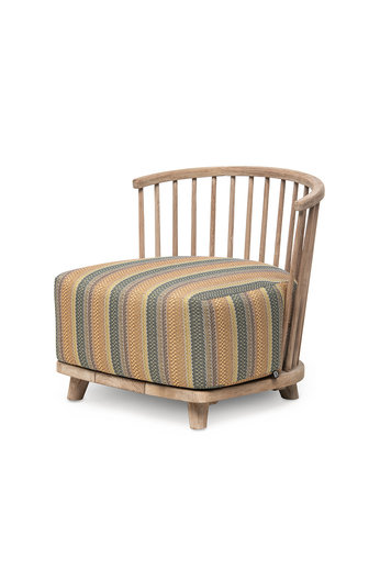Gommaire Lounge Carol 1 place | Reclaimed Teak Natural Grey + Coussin