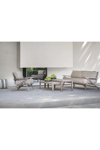 Gommaire 1-Seater Alabama | Teak Natural Gray + Cushion