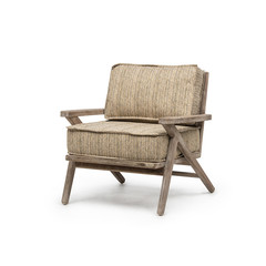 Gommaire 1-Seater Alabama | Teak Natural Grey + Cushion