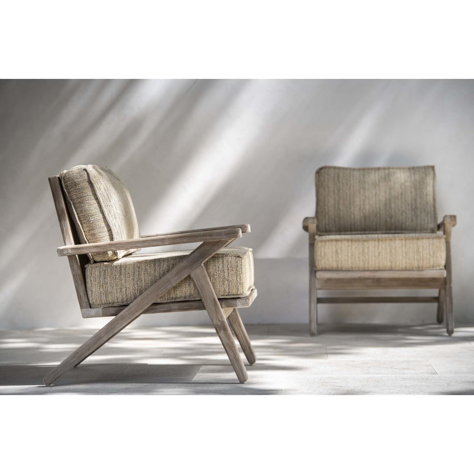 Gommaire 1-Seater Alabama   Teak Natural Gray + Cushion