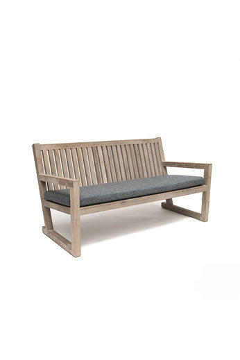 Gommaire Bench Alan | Reclaimed Teak Natural Grey + Coussin