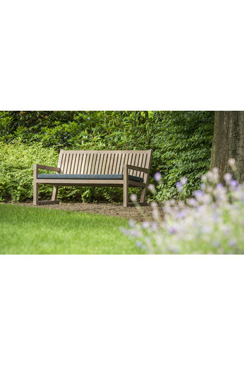 Gommaire Bench Alan   Reclaimed Teak Natural Grey + Cushion