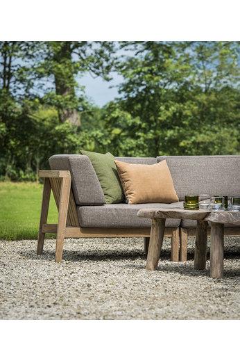 Gommaire Corner Copenhague | Reclaimed Teak Natural Grey + Cushion