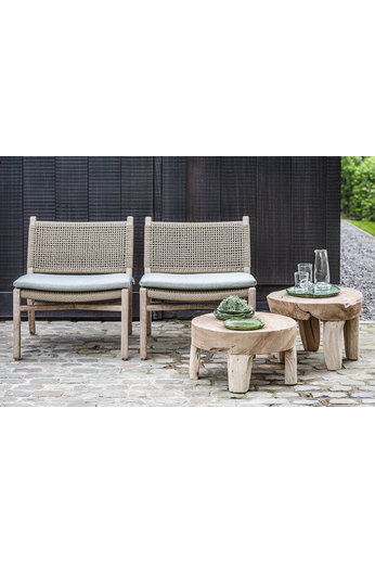 Gommaire Low Table Samba Large | Reak Root Natural Grey
