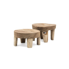 Gommaire Table basse Samba Small | Reak Root Gris Naturel