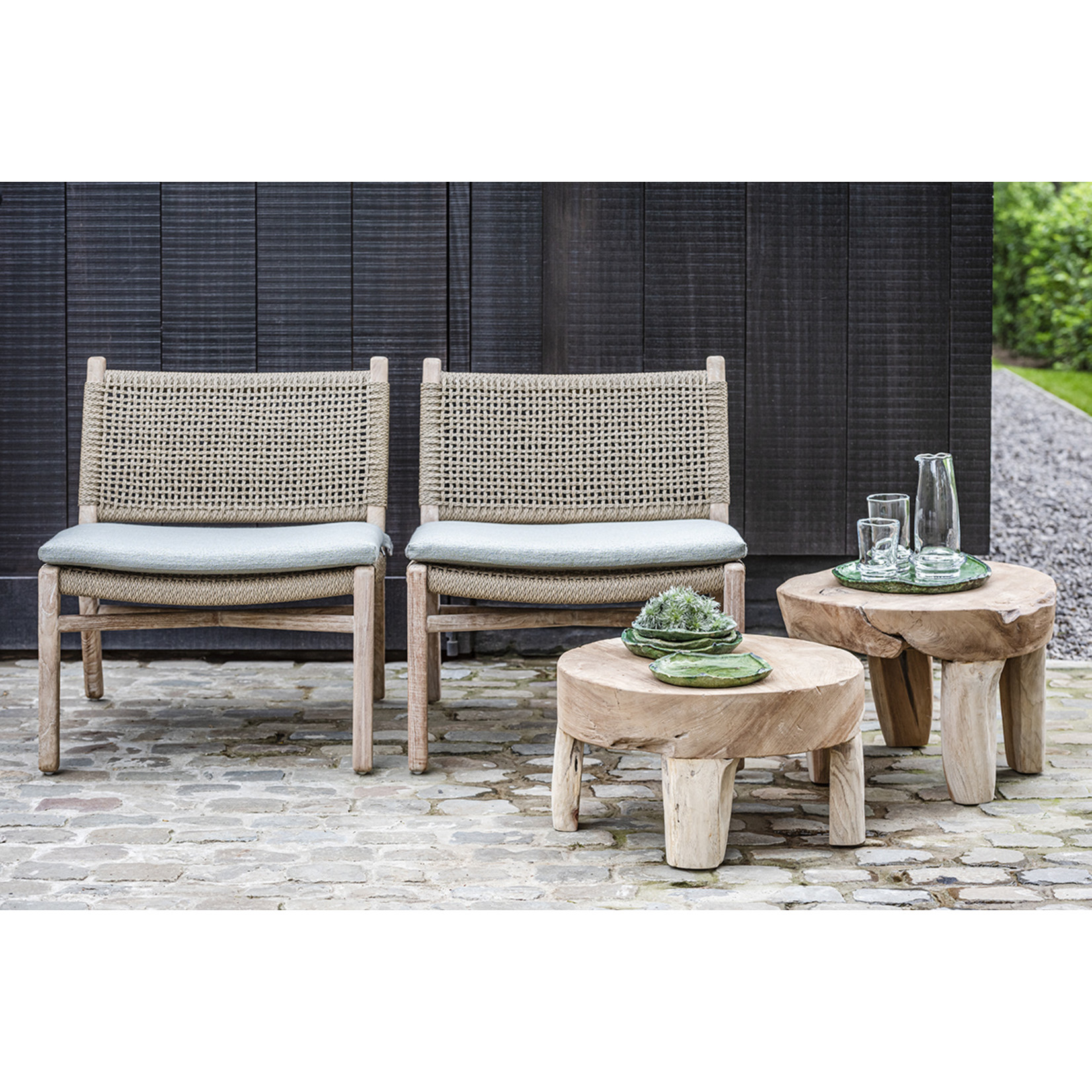 Gommaire Low Table Samba Small | Teak Root Natural Grey