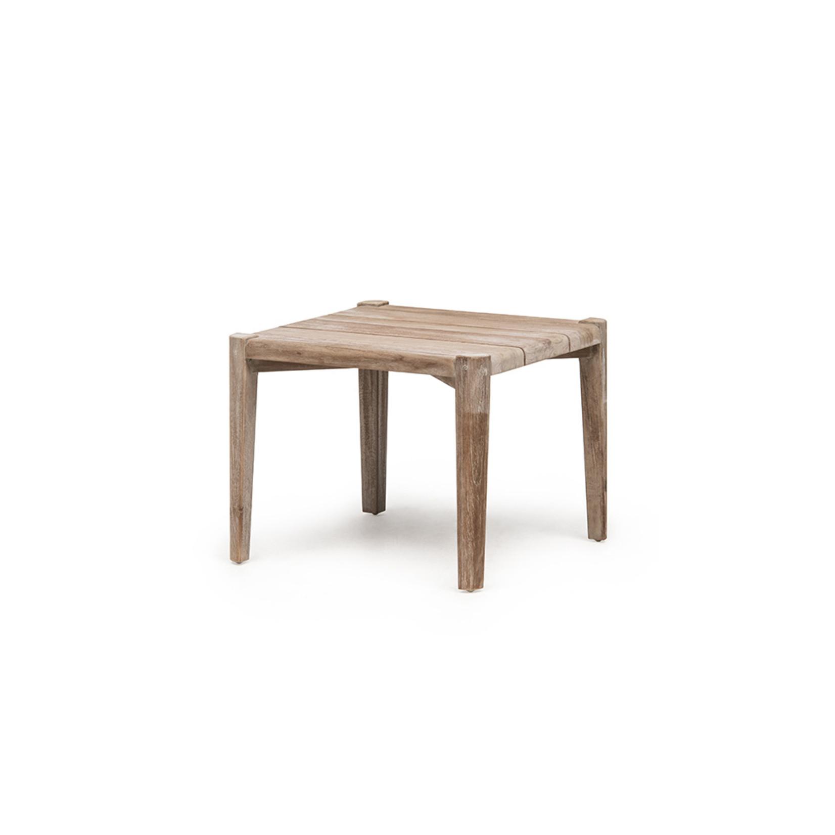 Gommaire Table basse carrée Floor Large | Teck récupéré gris naturel