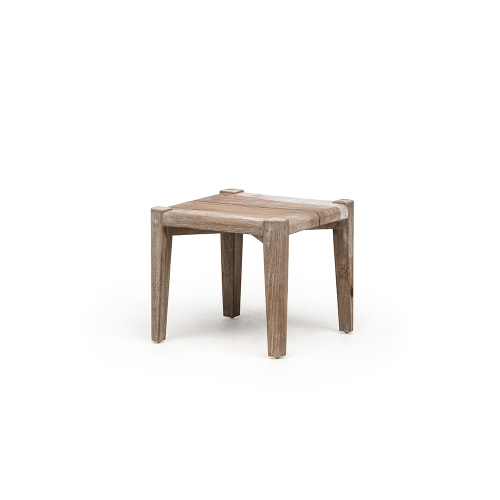 Gommaire Square Coffee Table Floor Small | Reclaimed Teak Natural Gray