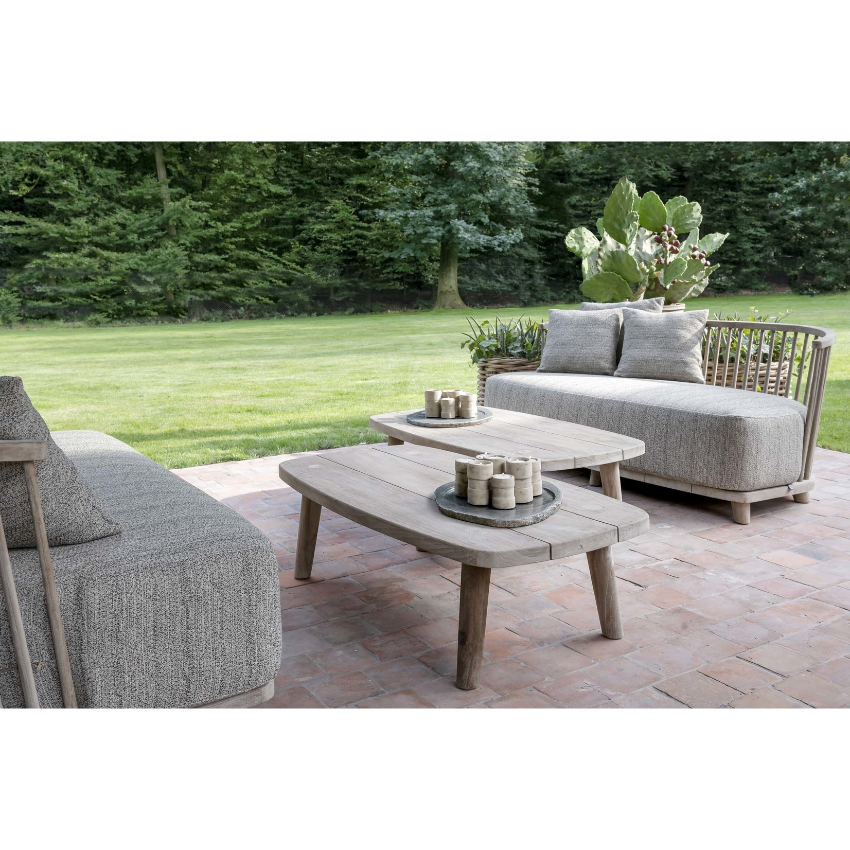 Gommaire Coffee Table Carol   Reclaimed Teak Natural Grey
