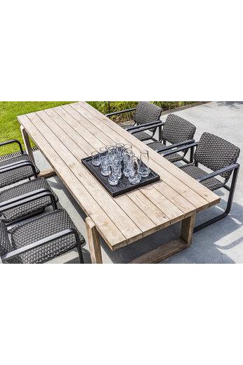 Gommaire Table Oslo   Teck récupéré gris naturel