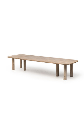Gommaire Low Table Carlo | Reclaimed Teak Natural Gray