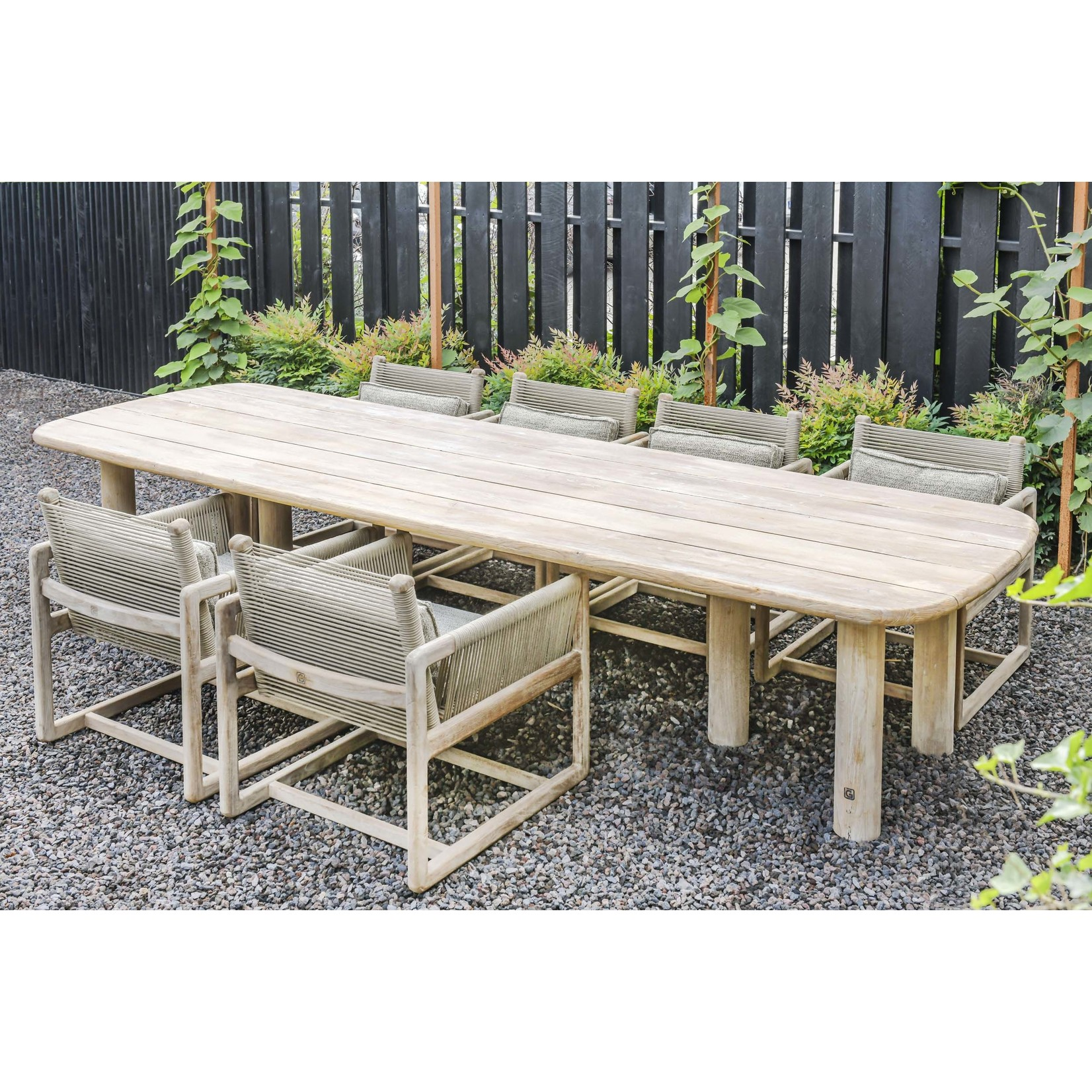 Gommaire Low Table Carlo | Reclaimed Teak Natural Grey