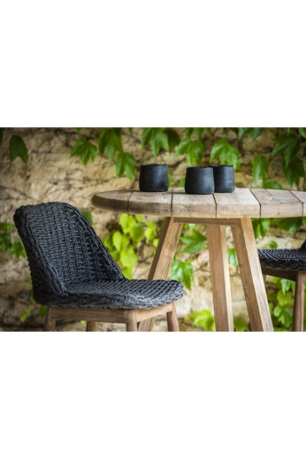 Gommaire Round Bar Table Anton | Reclaimed Teak Natural Grey