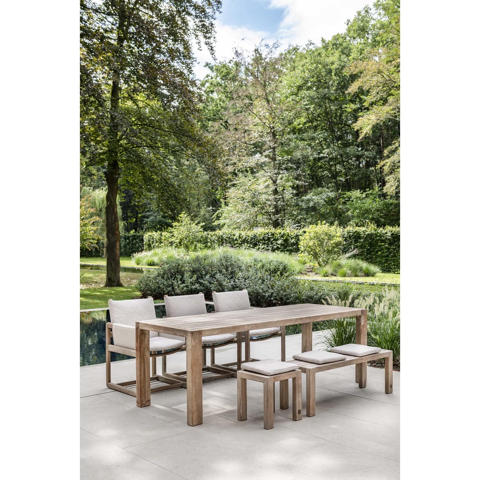 Gommaire Table rectangulaire Sandy Medium   Teck récupéré gris naturel