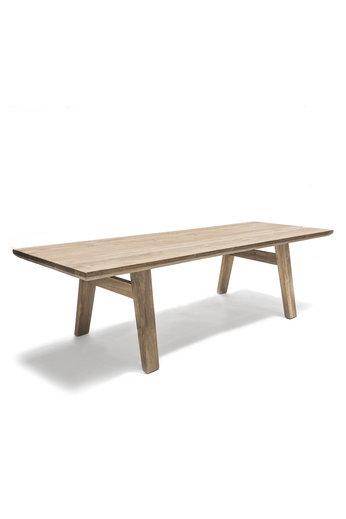 Gommaire Table Mia Large | Teck récupéré gris naturel