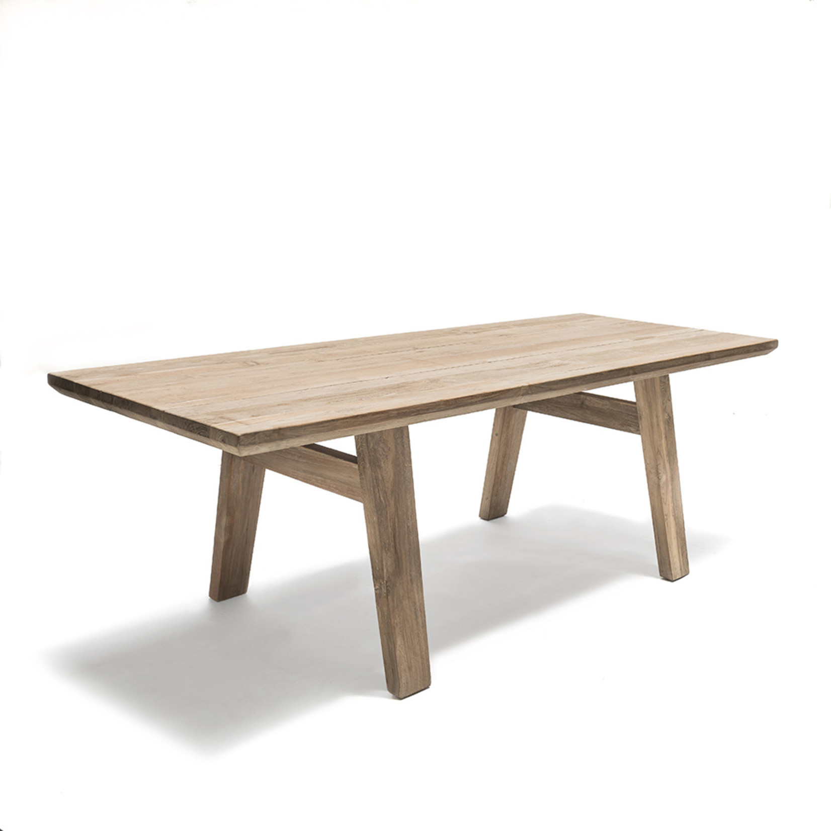 Gommaire Table Mia   Reclaimed Teak Natural Gray