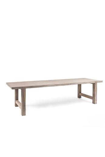 Gommaire Table Jacob Large | Teak récupéré gris naturel