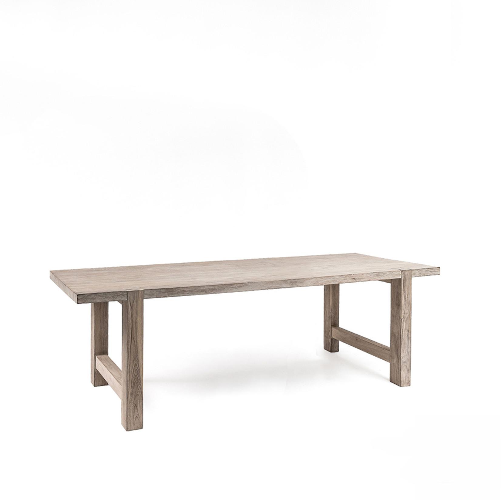 Gommaire Table Jacob Small   Teck récupéré gris naturel