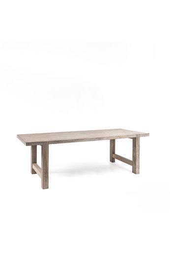 Gommaire Table Jacob Small | Teck récupéré gris naturel