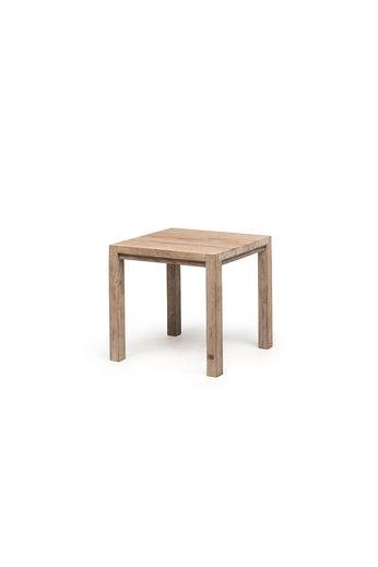 Gommaire Table de bistrot Jacob | Teck récupéré gris naturel