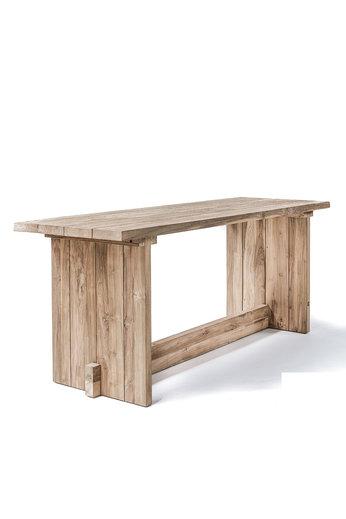 Gommaire Table de bar Alexi | Teck récupéré gris naturel