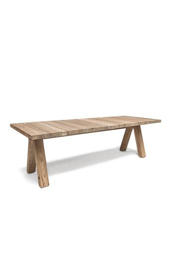 Gommaire Table Ziggy | Teck récupéré gris naturel