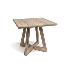 Gommaire Bistro Table Dennis   Reclaimed Teak Natural Grey