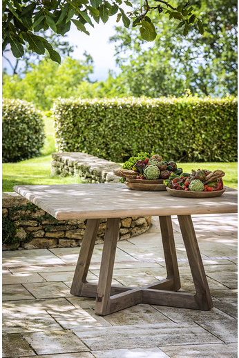 Gommaire Square Table Dennis | Reclaimed Teak Natural Grey