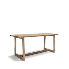 Gommaire Table de bar Dennis Large   Teck récupéré gris naturel