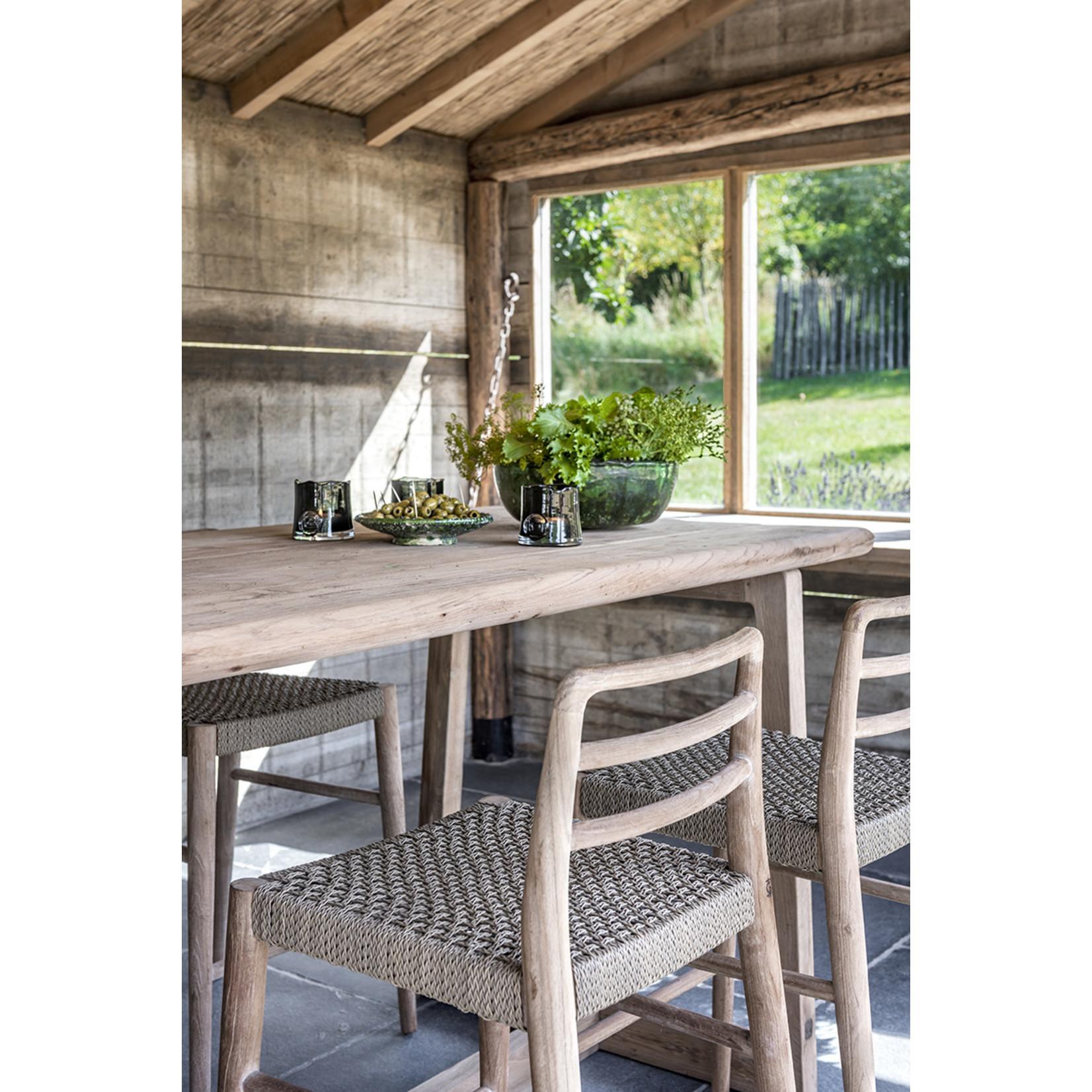 Gommaire Table de bar Dennis Large | Teck récupéré gris naturel