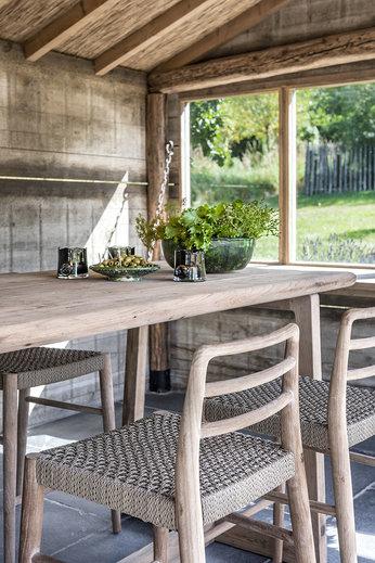 Gommaire Bar Table Dennis Large | Reclaimed Teak Natural Grey