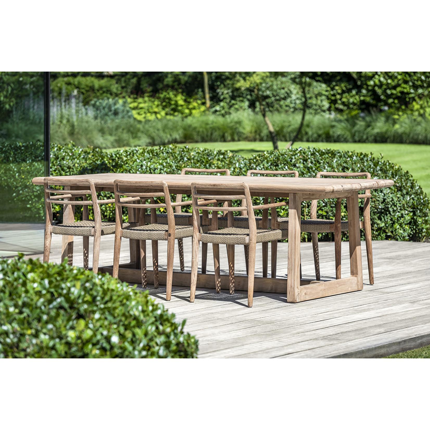 Gommaire Rectangular Table Dennis Large | Reclaimed Teak Natural Grey