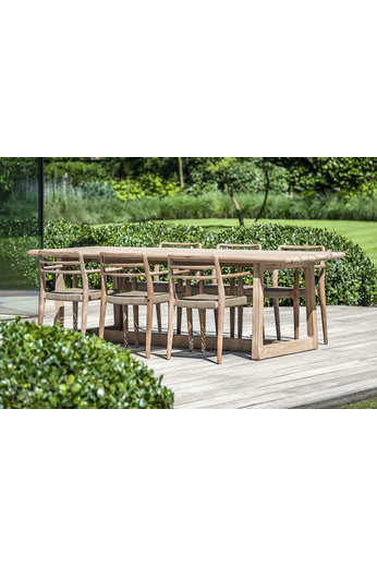 Gommaire Table rectangulaire Dennis Large | Teck récupéré gris naturel